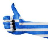 Flag of Greece on hand — Stock Photo