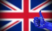 Positive attitude of the European Union for United Kingdom — Stock Photo