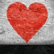 Heart painted on brick wall — Stock Photo #66890105