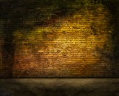 Mysterious brick wall — Stock Photo