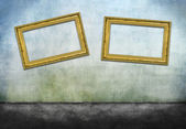 Two crooked golden frames — Stock Photo
