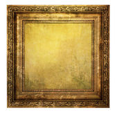 Yellowed wooden frame  — Stock Photo
