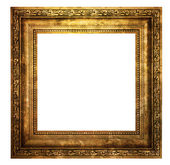Hollow wooden frame isolated on white  — Stock Photo