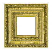 Richly decorated golden square frame  — Stock Photo