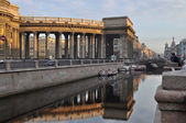 Morning in St. Petersburg. Canal Griboedova  and Kazan Cathedral. — Foto Stock