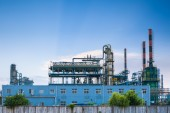 Petrochemical plant closeup — Stock Photo