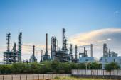 Petrochemical plant skyline at dusk  — Stock Photo