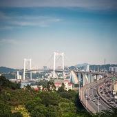 Xiamen haicang bridge closeup — Foto Stock