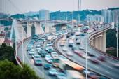 Busy traffic stream closeup — Zdjęcie stockowe