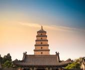 сиань большой дикий гусь пагода крупным планом — Стоковое фото