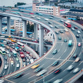 Busy traffic closeup — Stock Photo