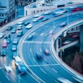 Vehicles motion blur closeup   — Stock Photo
