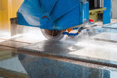 Cutting granite closeup — Stock Photo