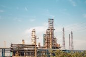 Chemical plant equipment — Stock Photo