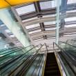 Escalator in a modern building — Stock Photo #61375739