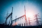 Power distributing substation — Stock Photo