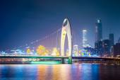 Guangzhou liede bridge at night — Stock Photo
