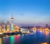 Vackra shanghai på kvällen — Stockfoto