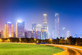 Guangzhou pearl river new town at night — Stock Photo