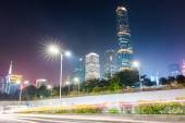 Pearl river new town at night — Stock Photo