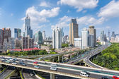 City overpass road in daytime — Stock Photo