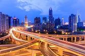 Overpass in nightfall — Stock Photo