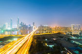 Aerial view of guangzhou at night  — Stockfoto