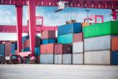 Container depot — Stock Photo