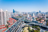 Interchange of urban viaducts — Stock Photo