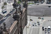 Streets of Barcelona Spain — Stok fotoğraf