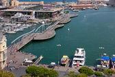 Havet port Barcelona Spanien — Stockfoto
