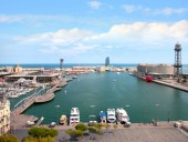 Sea port Barcelona Spain — Stock Photo