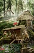 Fairy house (stump) — Стоковое фото