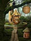 Fairy house ( barrel) — Stock Photo