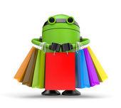 Robo shopping — Stock Photo