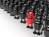 Crowd with leader — Stock Photo