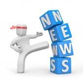 Breaking news — Stock Photo