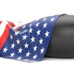 Bomb covered USA flag — Stock Photo #55924349