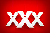 XXx letters on ropes — Stock Photo