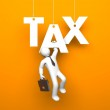 Tax. Business metaphor — Stock Photo #69581625