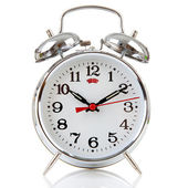 Silver alarm clock — Stock Photo