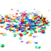 Pile of colorful confetti — Stock Photo