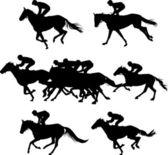 Horserace — Stock Vector