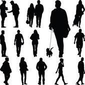 People walk — Stock Vector