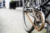 Progress without investment concept - rusted bike chain. — Stock Photo