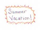 Férias de Verão de palavras — Fotografia Stock