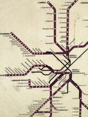 Map of Boston commuter rail system — Foto de Stock
