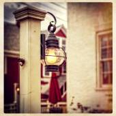 Lantern in a quaint, small town — Stock Photo