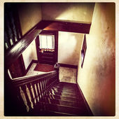 Grimy old staircase, instagram style — Stock Photo