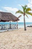 Gazebo on the beach — Stock Photo